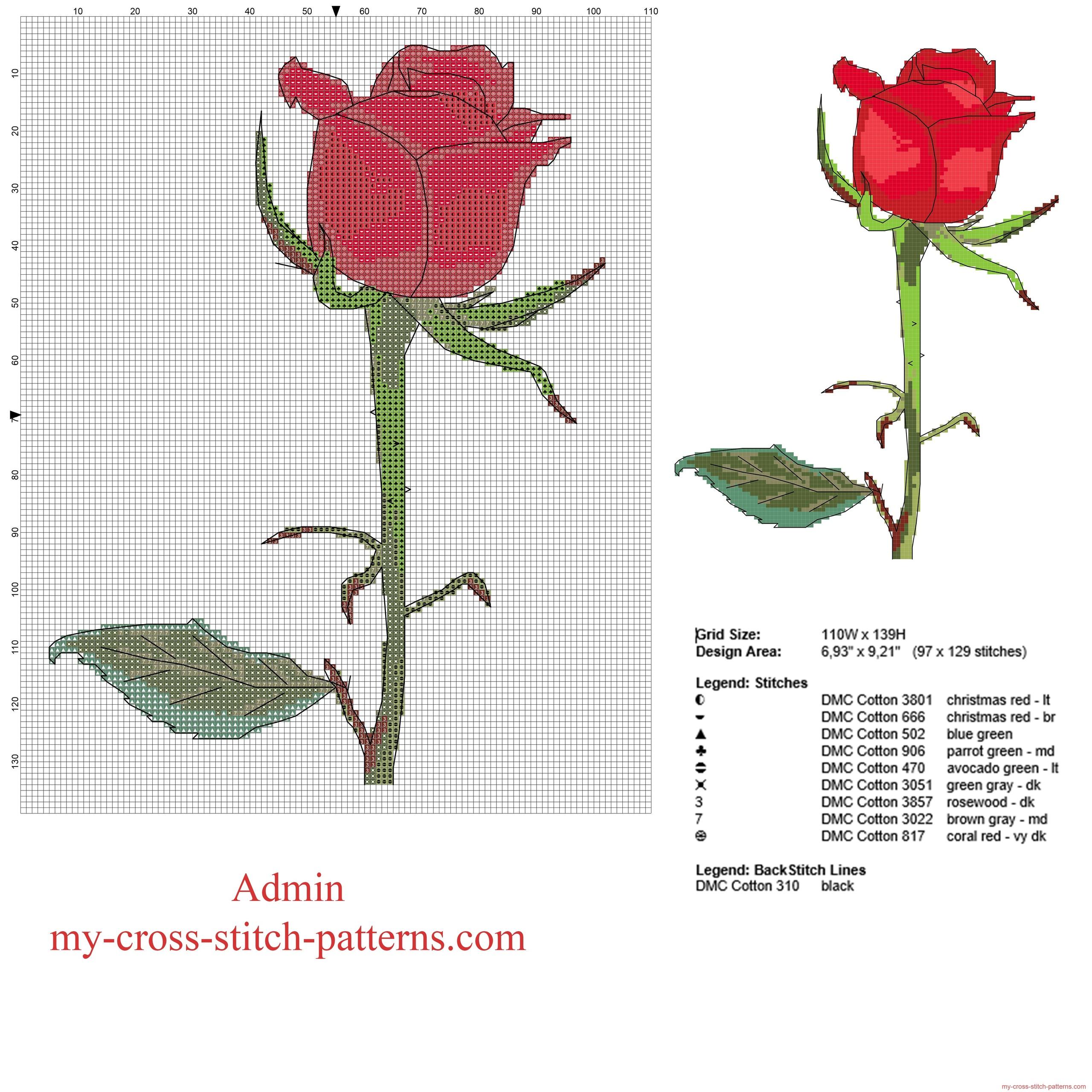 a_beautiful_red_rose_free_cross_stitch_pattern