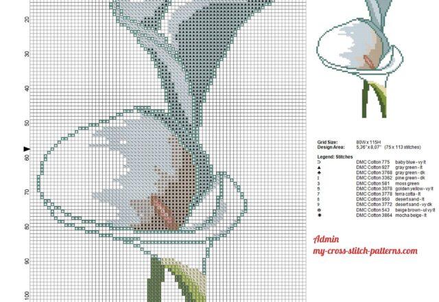 a_calla_lily_flower_cross_stitch_pattern