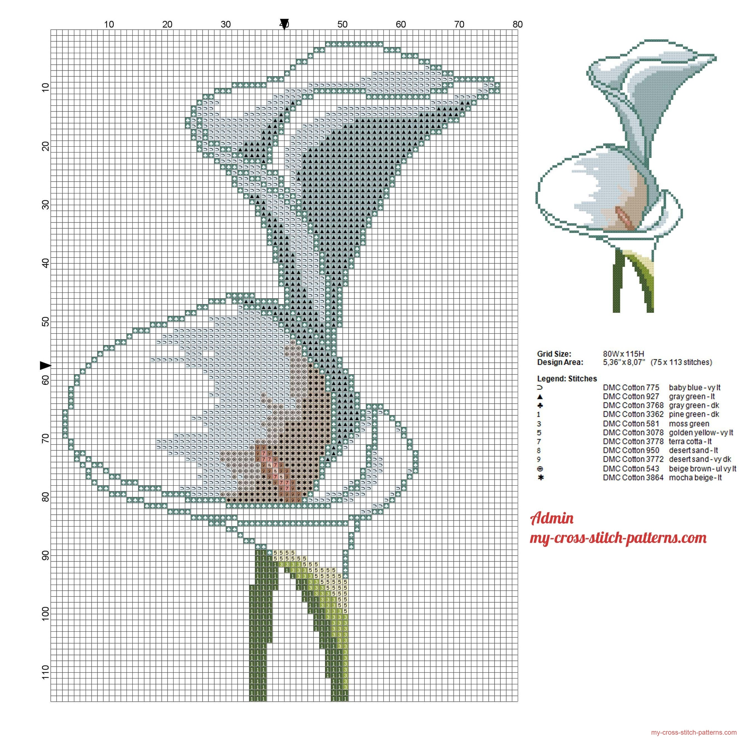 a_calla_lily_flower_cross_stitch_pattern