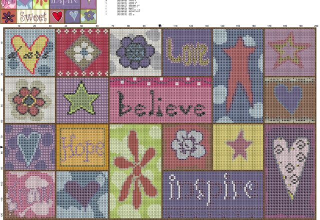 a_colorful_painting_with_beautiful_words_free_cross_stitch_pattern_download