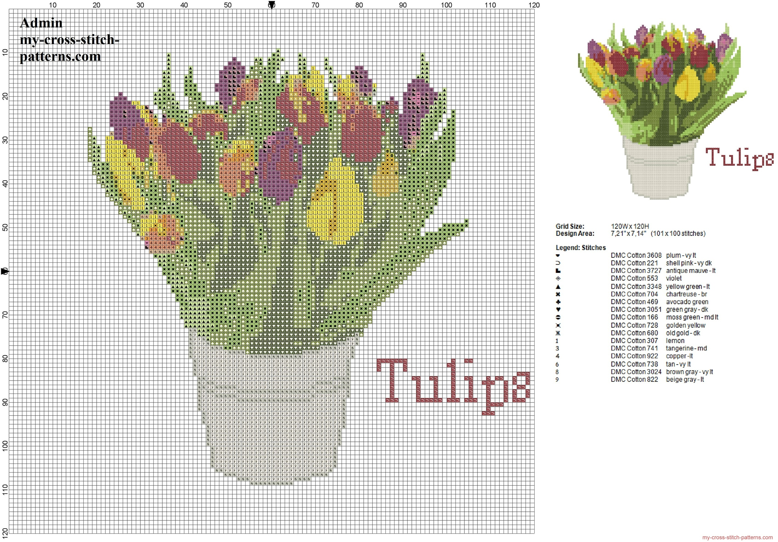 a_realistic_pot_of_colored_tulips_flowers_cross_stitch_pattern