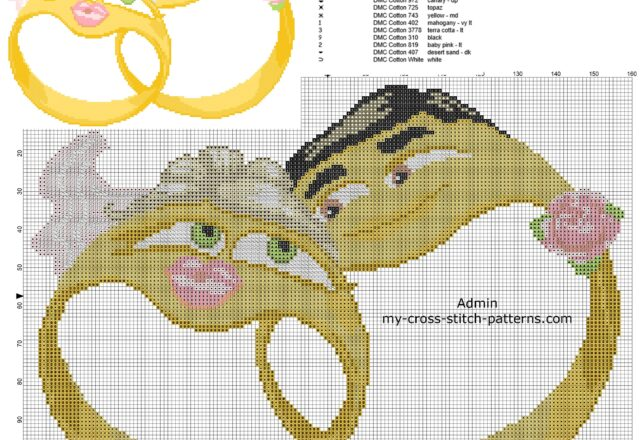 anniversary_cross_stitch_pattern_two_wedding_rings_emoticons