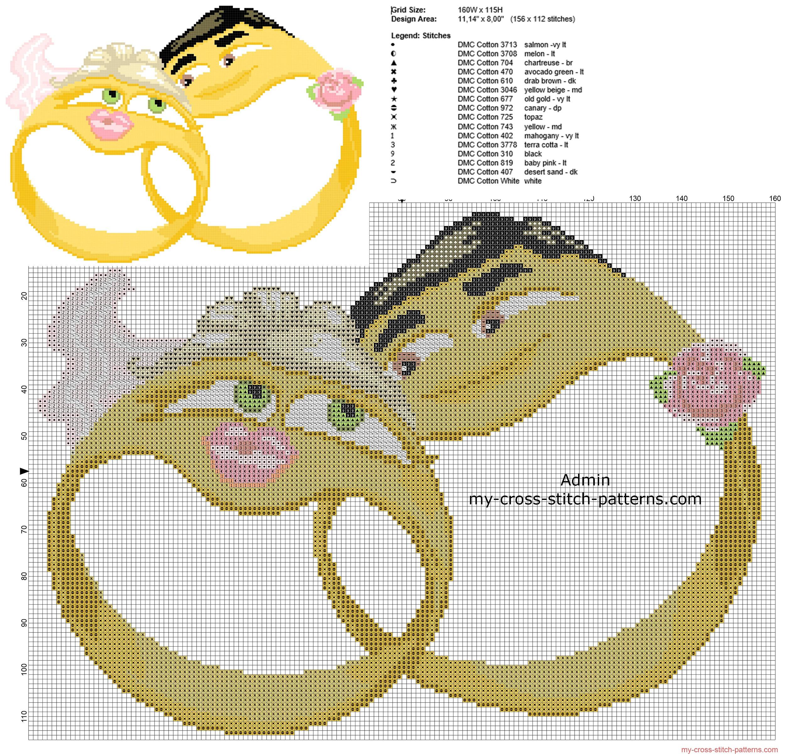 anniversary_cross_stitch_pattern_two_wedding_rings_emoticons
