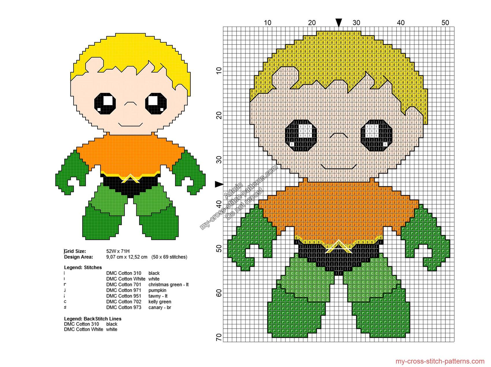 baby_aquaman_free_superheroes_cross_stitch_patterns_50x69