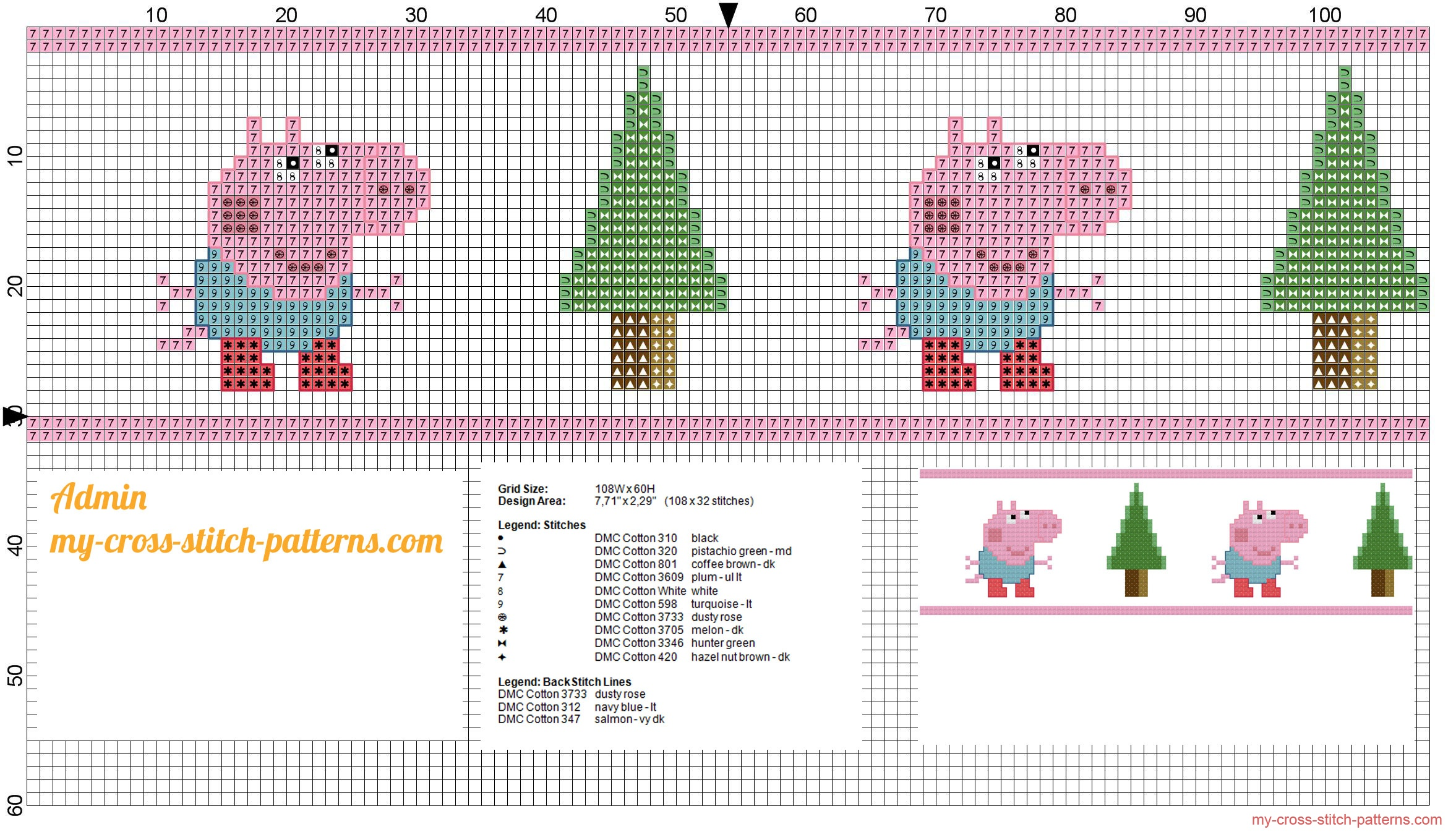 baby_border_with_george_from_peppa_pig_cross_stitch_pattern