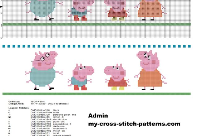 baby_border_with_peppa_pig_family_cross_stitch_pattern