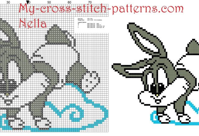 baby_bugs_bunny_on_the_cloud_cross_stitch_pattern_free