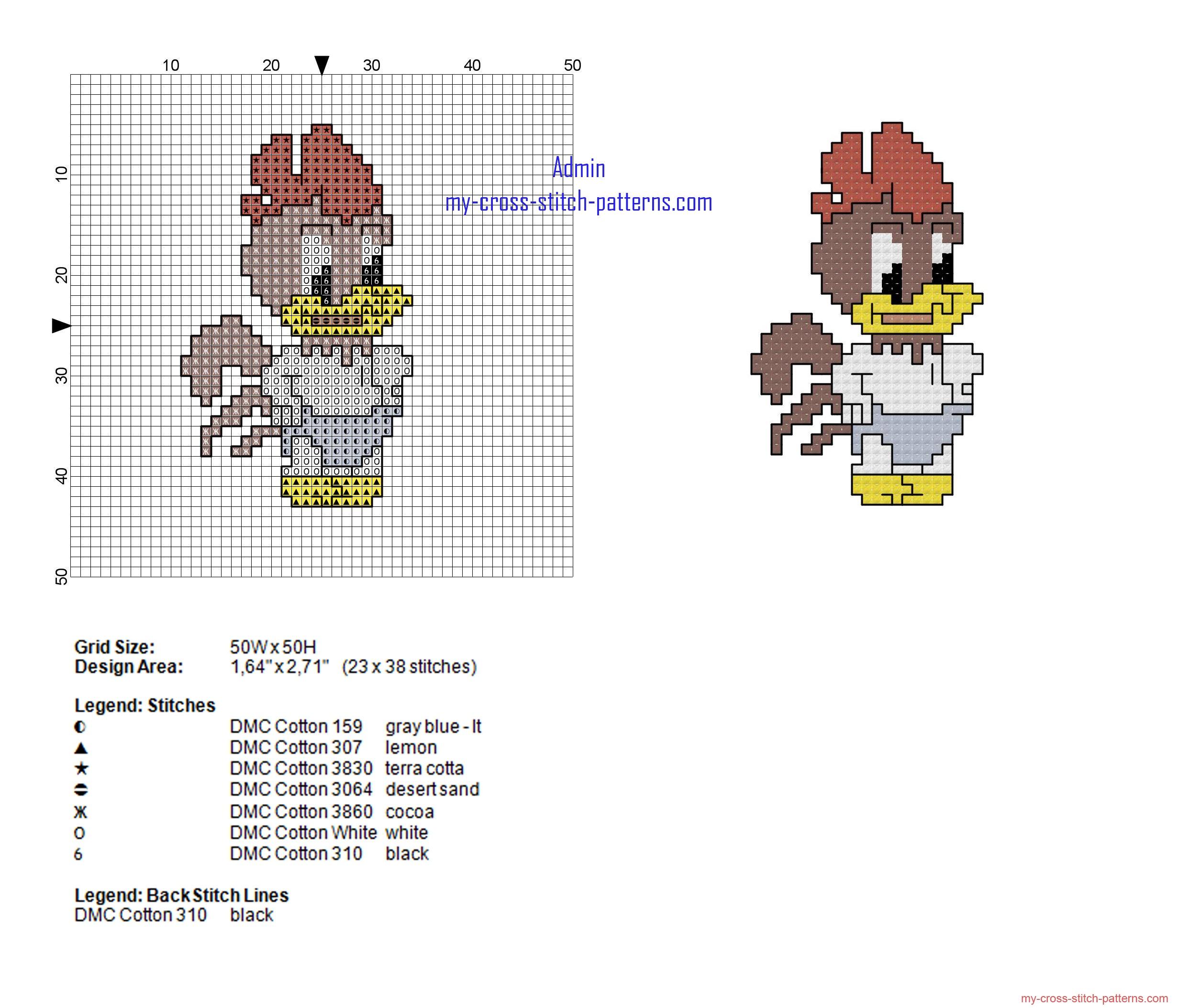 baby_foghorn_leghorn_looney_tunes_cross_stitch_pattern_height_38