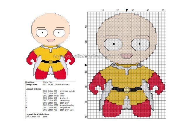 baby_saitama_one_punch_man_free_cross_stitch_pattern_50x69