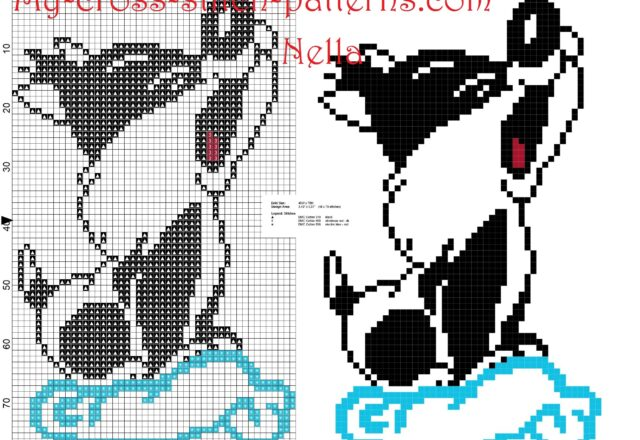baby_sylvester_looney_tunes_on_the_cloud_cross_stitch_pattern_free