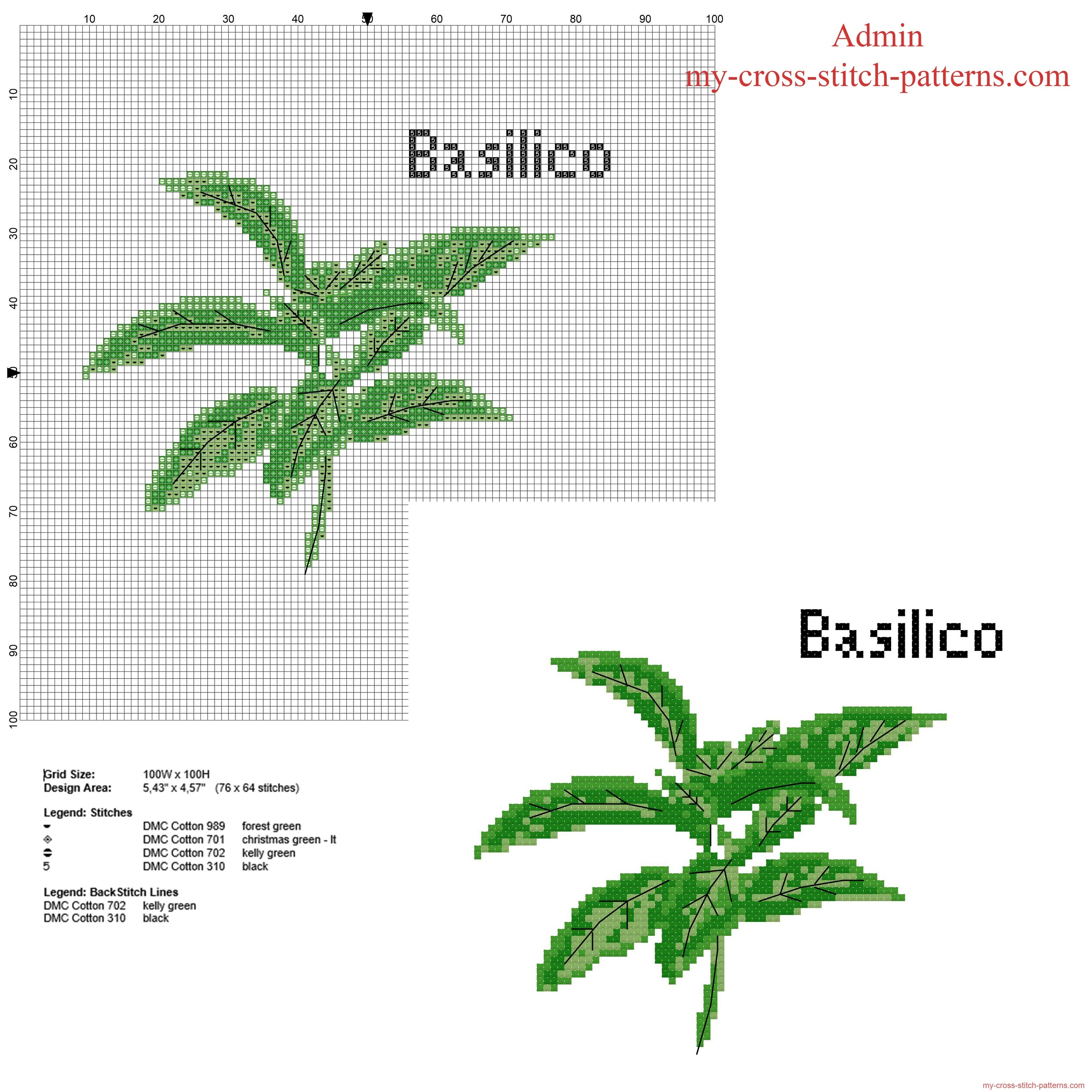 basil_herb_free_cross_stitch_pattern