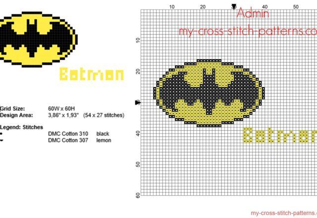 batman_superhero_logo_free_cross_stitch_pattern_54_x_27_stitches_2_dmc_threads