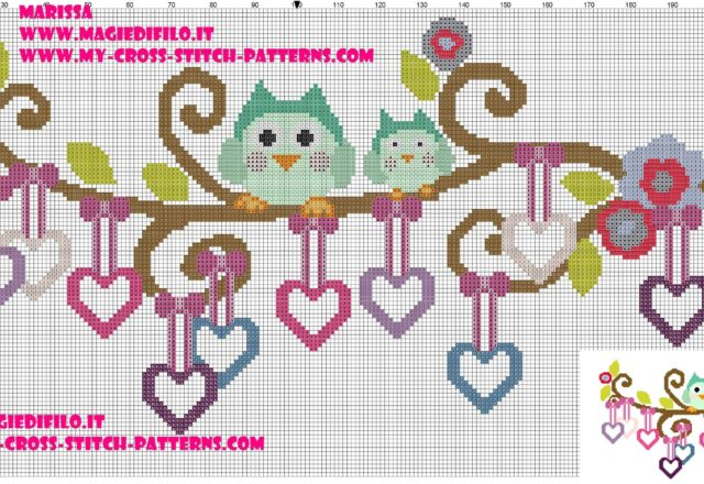 beautiful_owls_on_branch_with_hearts_pendants