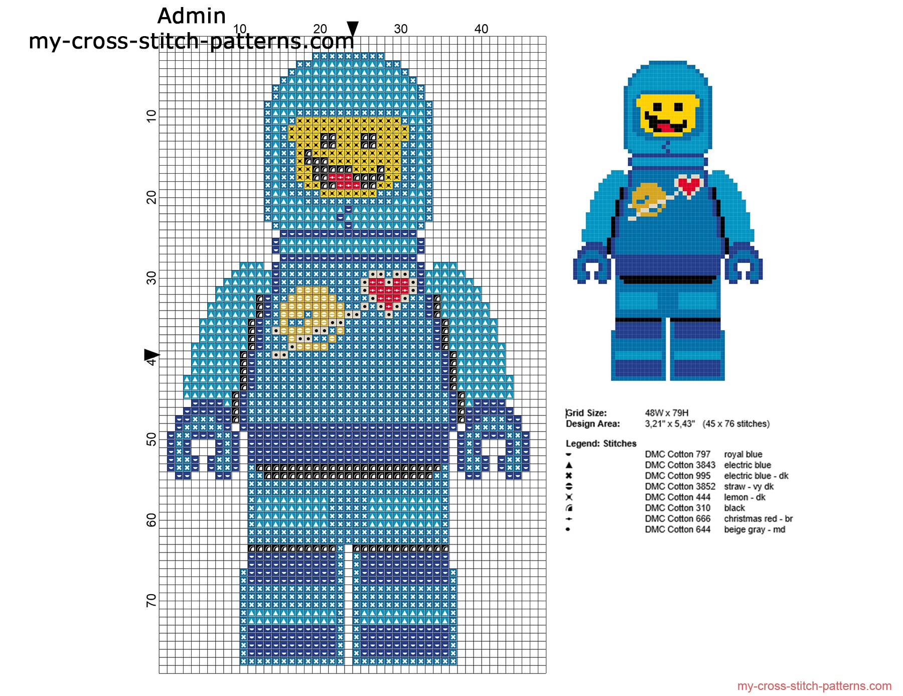 benny_the_lego_movie_character_free_cross_stitch_pattern