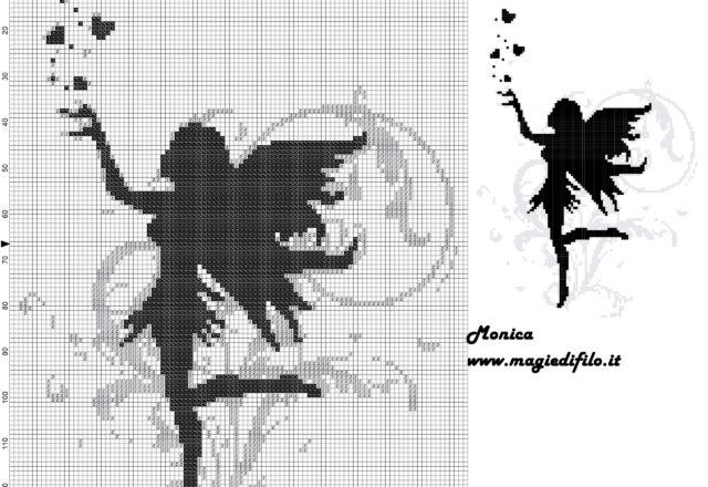 black_fairy_cross_stitch_pattern_