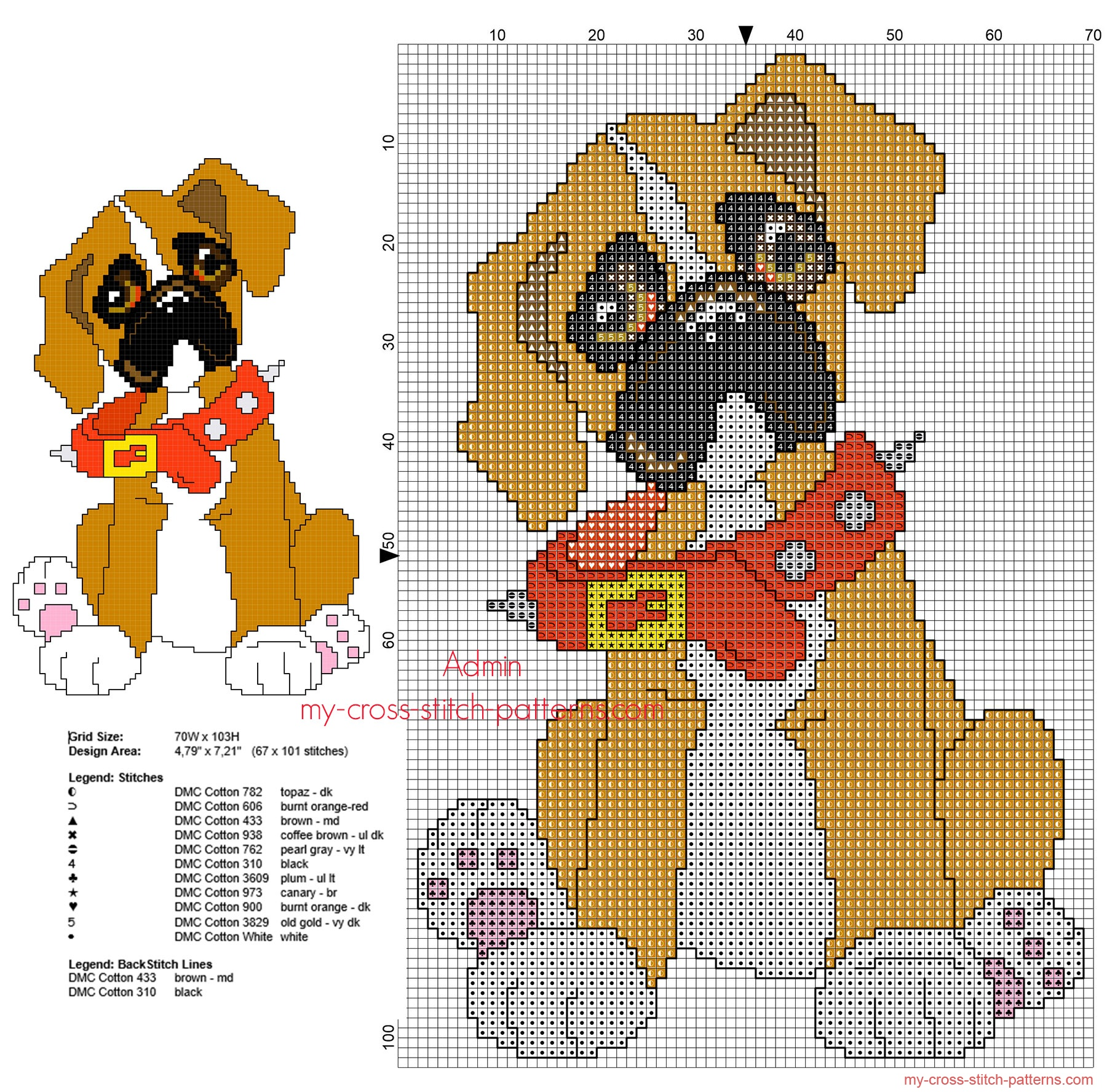 boxer_dog_puppy_free_simple_cross_stitch_pattern
