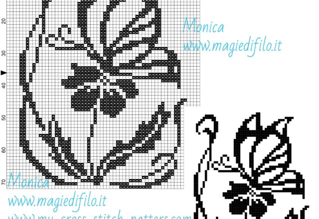 butterfly_on_flower_cross_stitch_pattern_