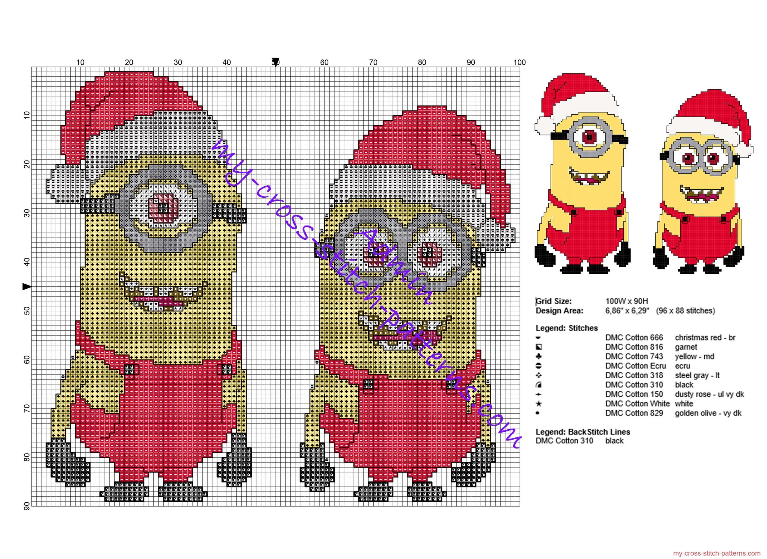 christmas_minions_free_cross_stitch_pattern