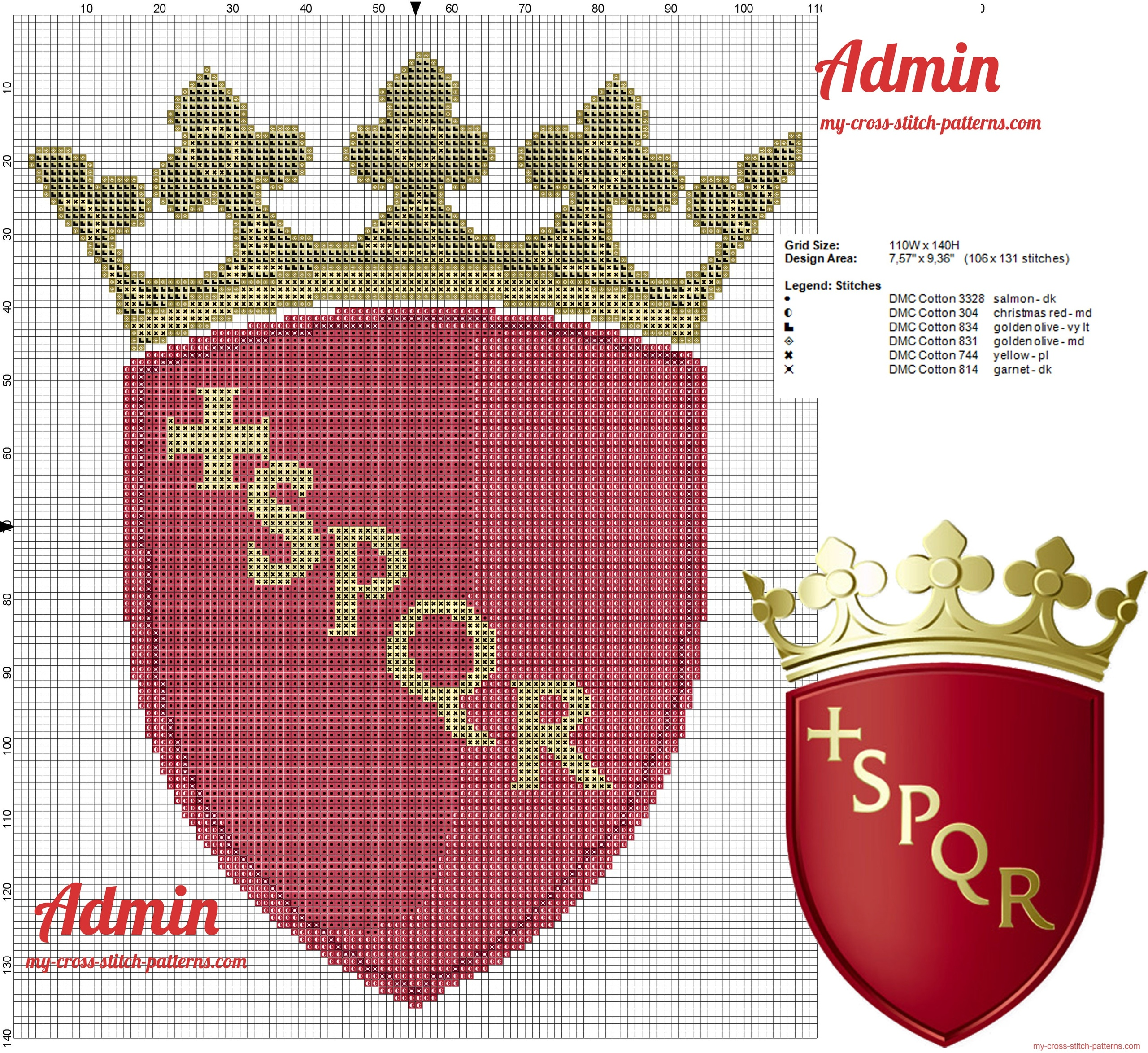 coat_of_arms_of_rome_cross_stitch_pattern_free