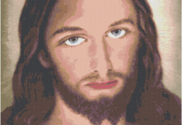 color_jesus_face_cross_stitch_pattern_preview