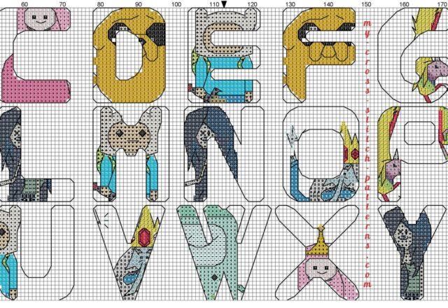 cross_stitch_alphabet_adventure_time_2