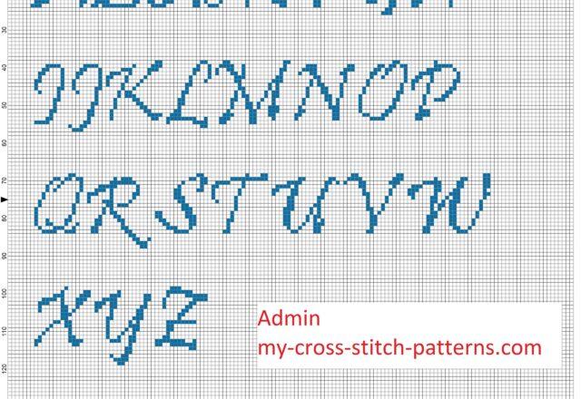 cross_stitch_alphabet_pristina_font_uppercase_height_30_stitches