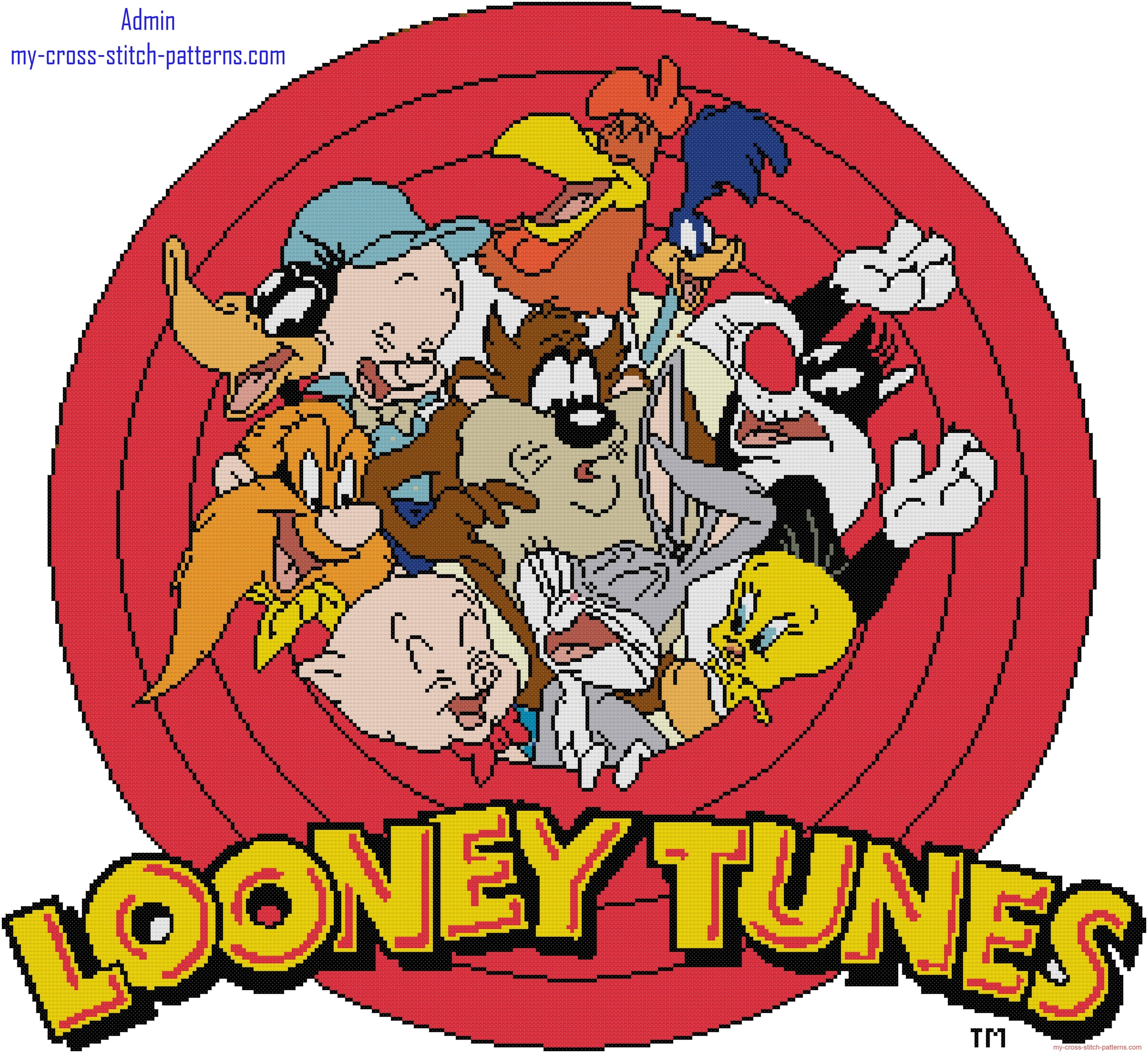 cross_stitch_baby_blanket_with_looney_tunes_characters_preview