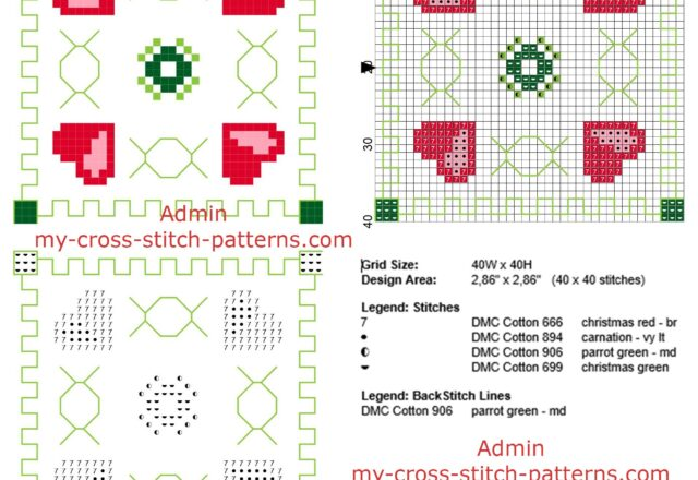 cross_stitch_biscornu_pattern_with_four_hearts_and_geometric_shapes_size_40_x_40_stitches
