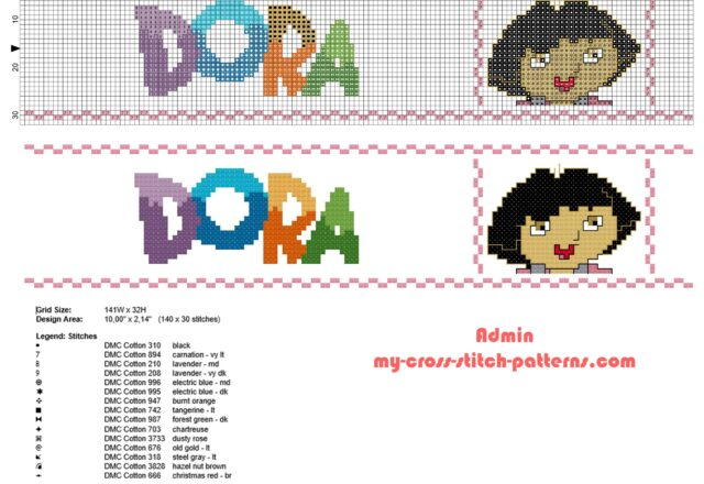 cross_stitch_border_with_dora_the_explorer_height_30_stitches_free_download