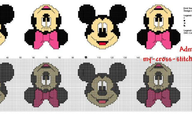 cross_stitch_children_baby_border_with_disney_mickey_and_minnie_mouse_faces_34_stitches