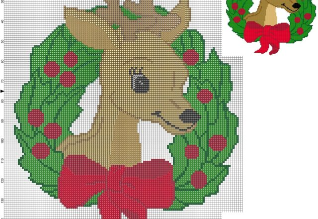 cross_stitch_pattern_garland_christmas_reindeer