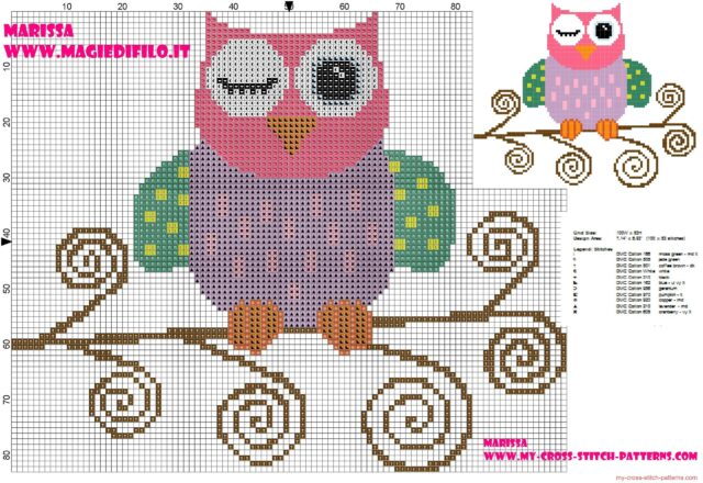 cross_stitch_pattern_of_beautiful_colored_owl_on_branch