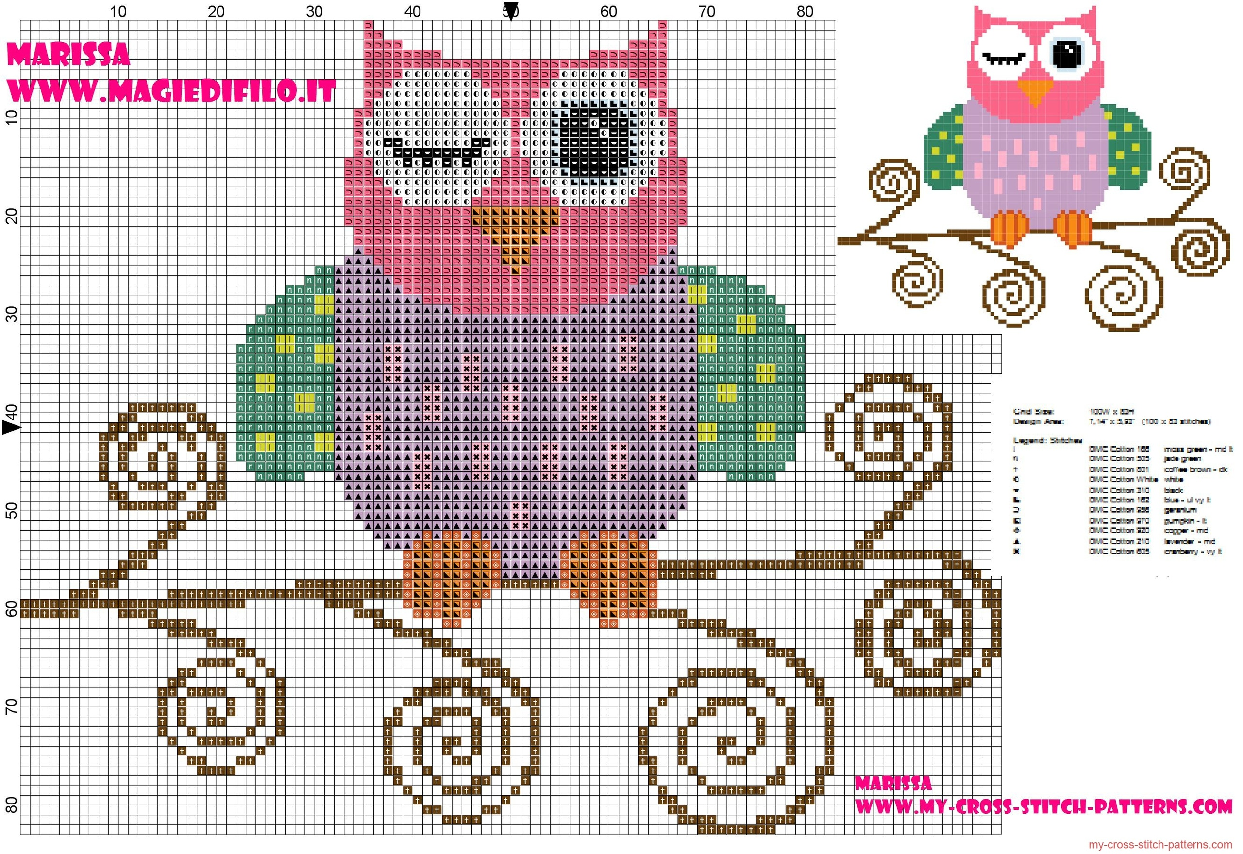 cross_stitch_pattern_of_beautiful_colored_owl_on_branch