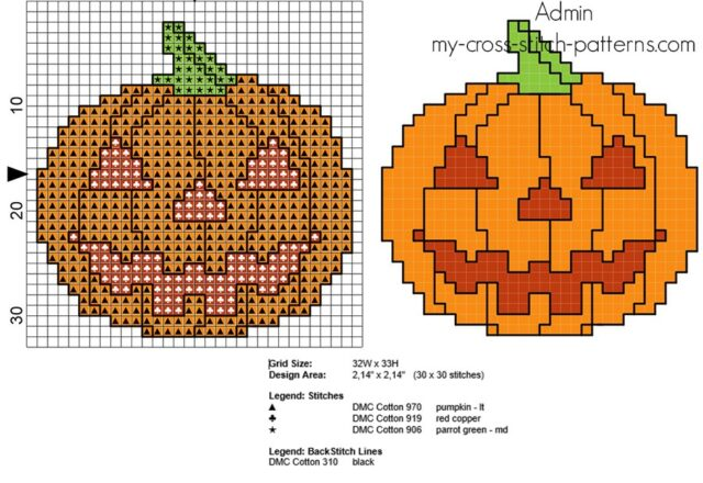 cross_stitch_pattern_small_halloween_pumpkin_with_red_eyes_and_mouth