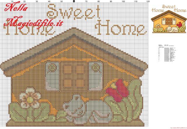 cross_stitch_pattern_thun_house_with_kitten_sleeping