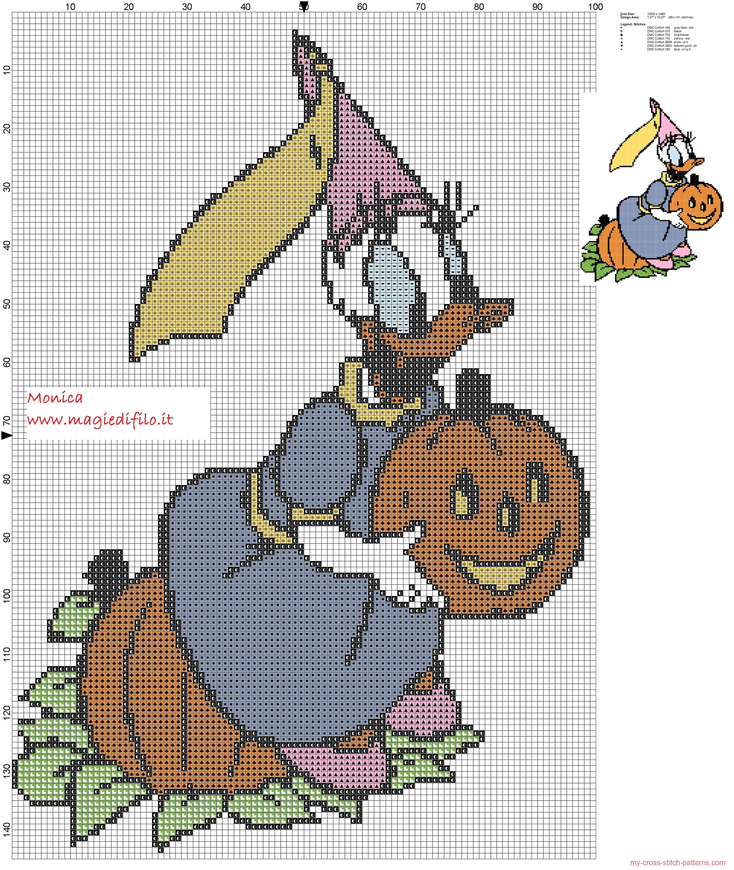daisy_with_pumpkin_cross_stitch_pattern_