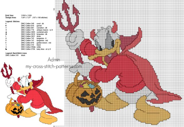 disney_donal_duck_devil_halloween_costume_cross_stitch_pattern