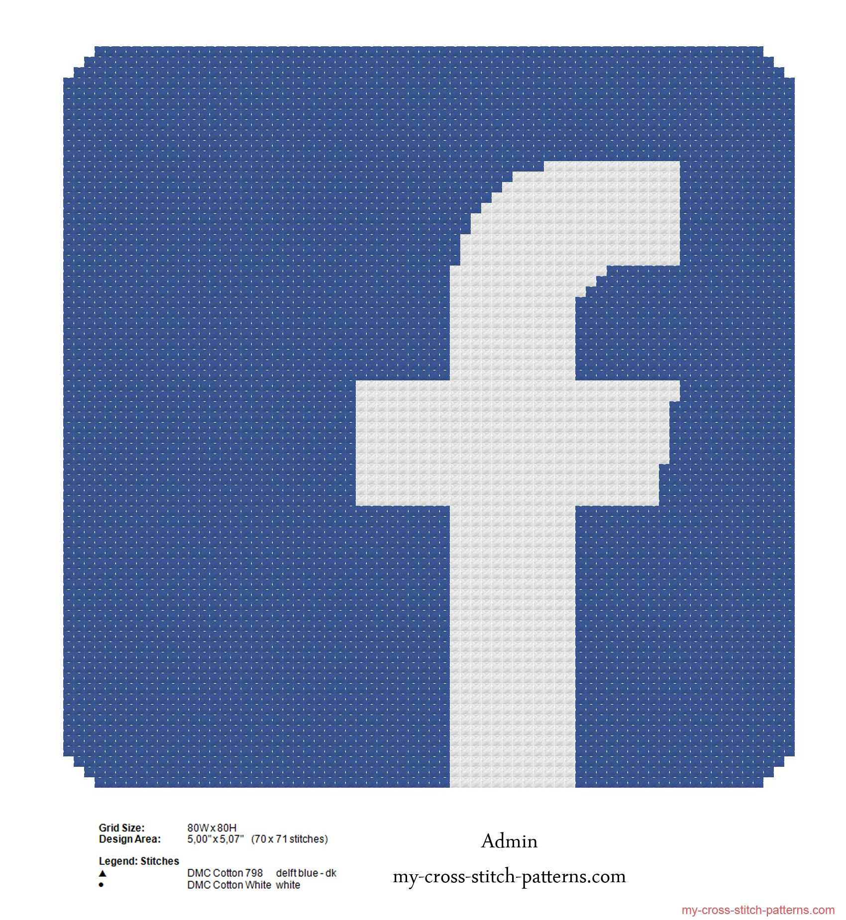 facebook_logo_free_cross_stitch_pattern_70x71