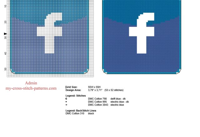 facebook_logo_in_fifty_stitches_free_cross_stitch_pattern