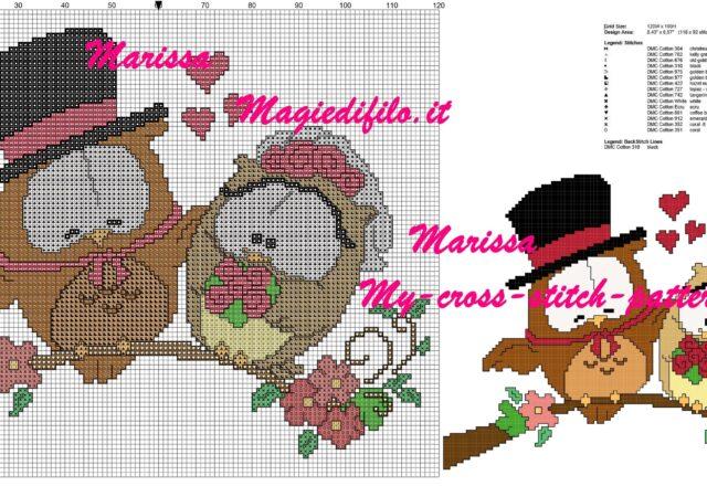 free_cross_stitch_pattern_owls_married
