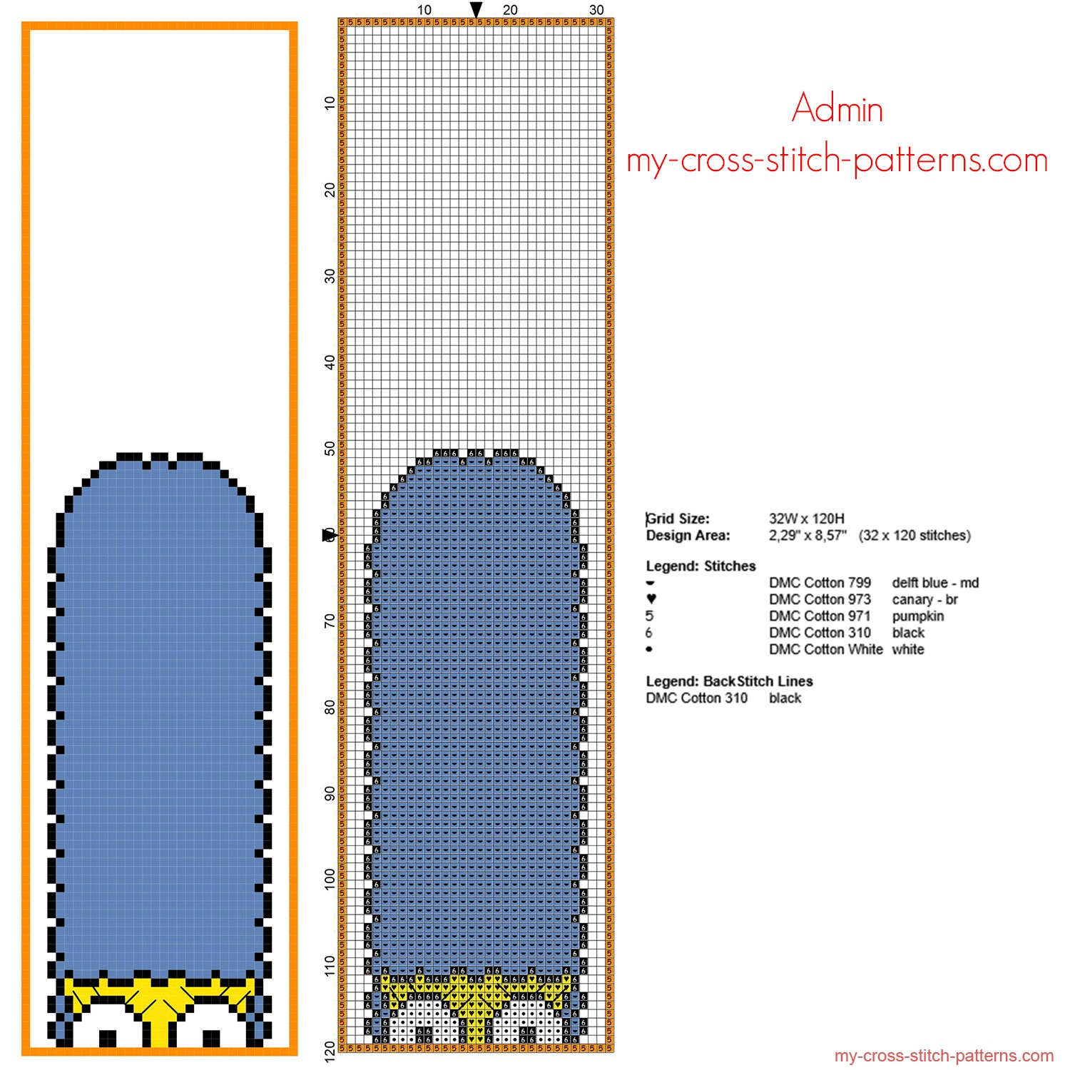 funny_cross_stitch_bookmark_with_marge_simpson_32_x_120_free_download