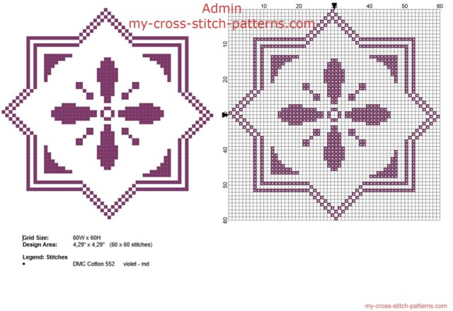 geometric_violet_biscornu_60_x_60_stitches_free_cross_stitch_pattern_download