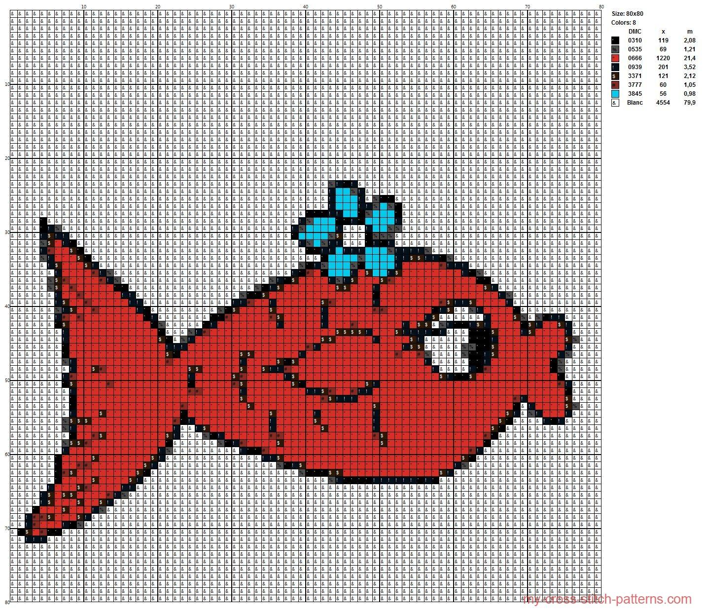 goldfish_cross_stitch_pattern_free_80x80_x_8_dmc_threads_scheme_maker