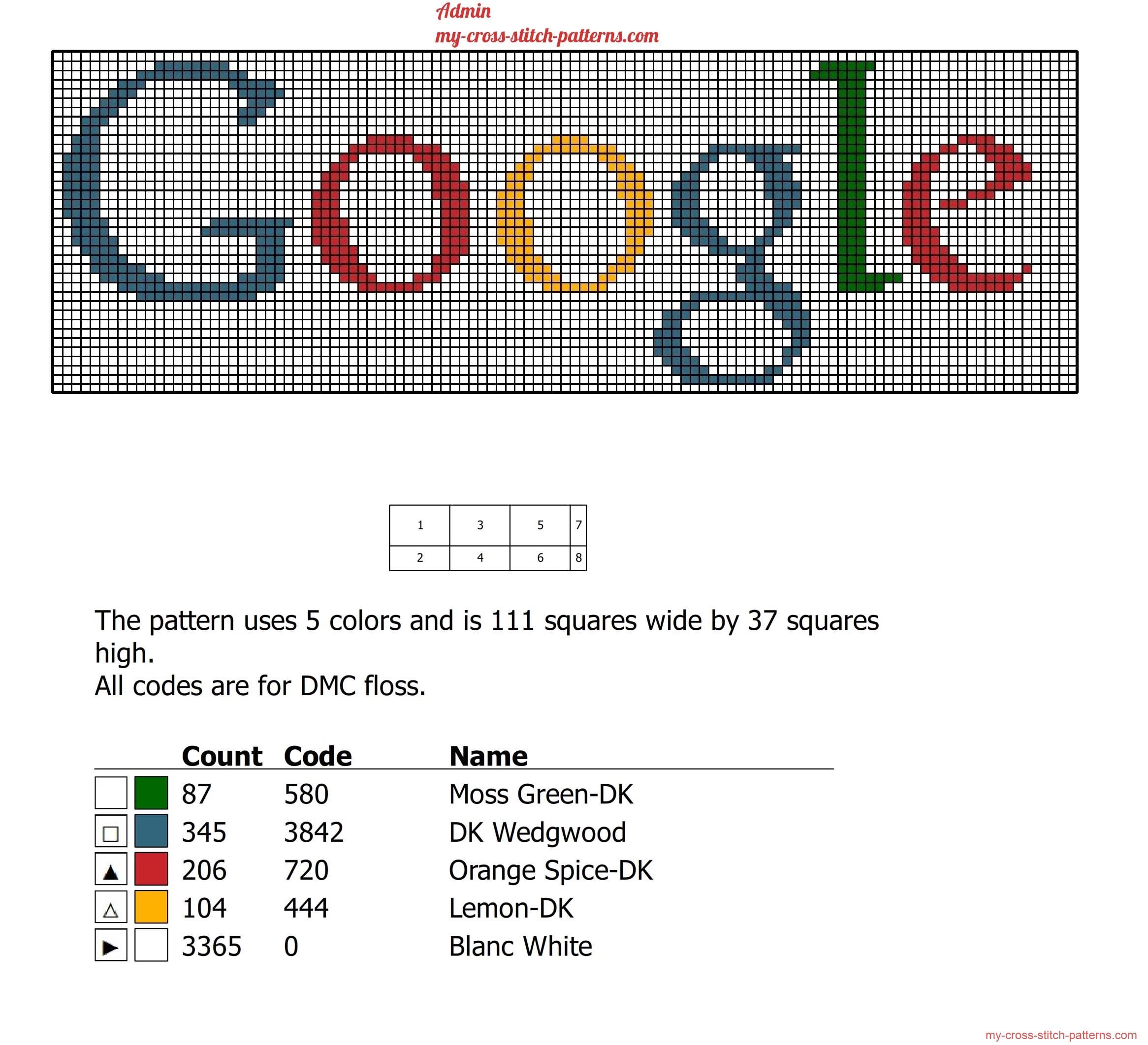 google_logo_free_cross_stitch_pattern