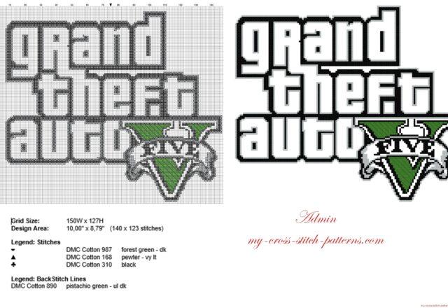 grand_theft_auto_v_gta_v_logo_videogames_free_cross_stitch_pattern