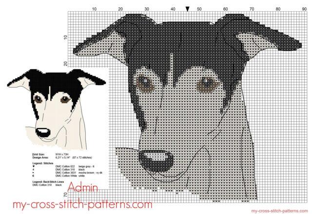 greyhound_dog_free_cross_stitch_pattern_87_x_72_stitches_4_dmc_threads_colors