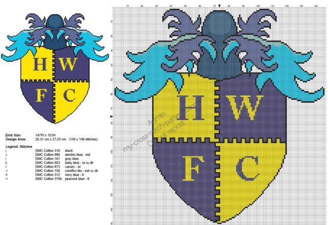 havant__waterlooville_fc_badge_free_cross_stitch_pattern_145x149
