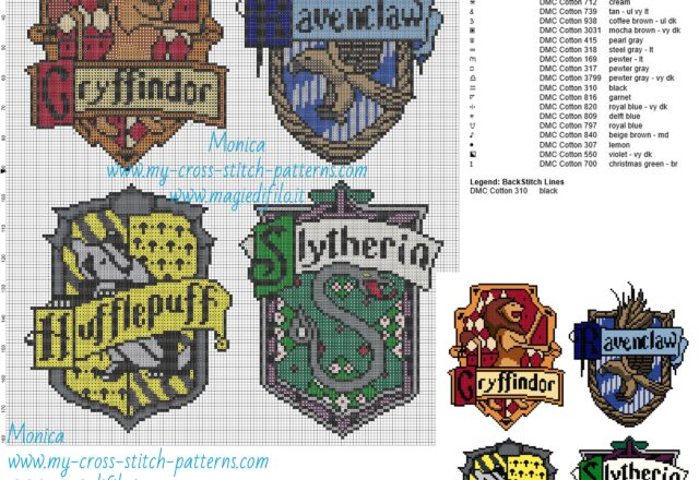 hogwarts_houses_cross_stitch_pattern_
