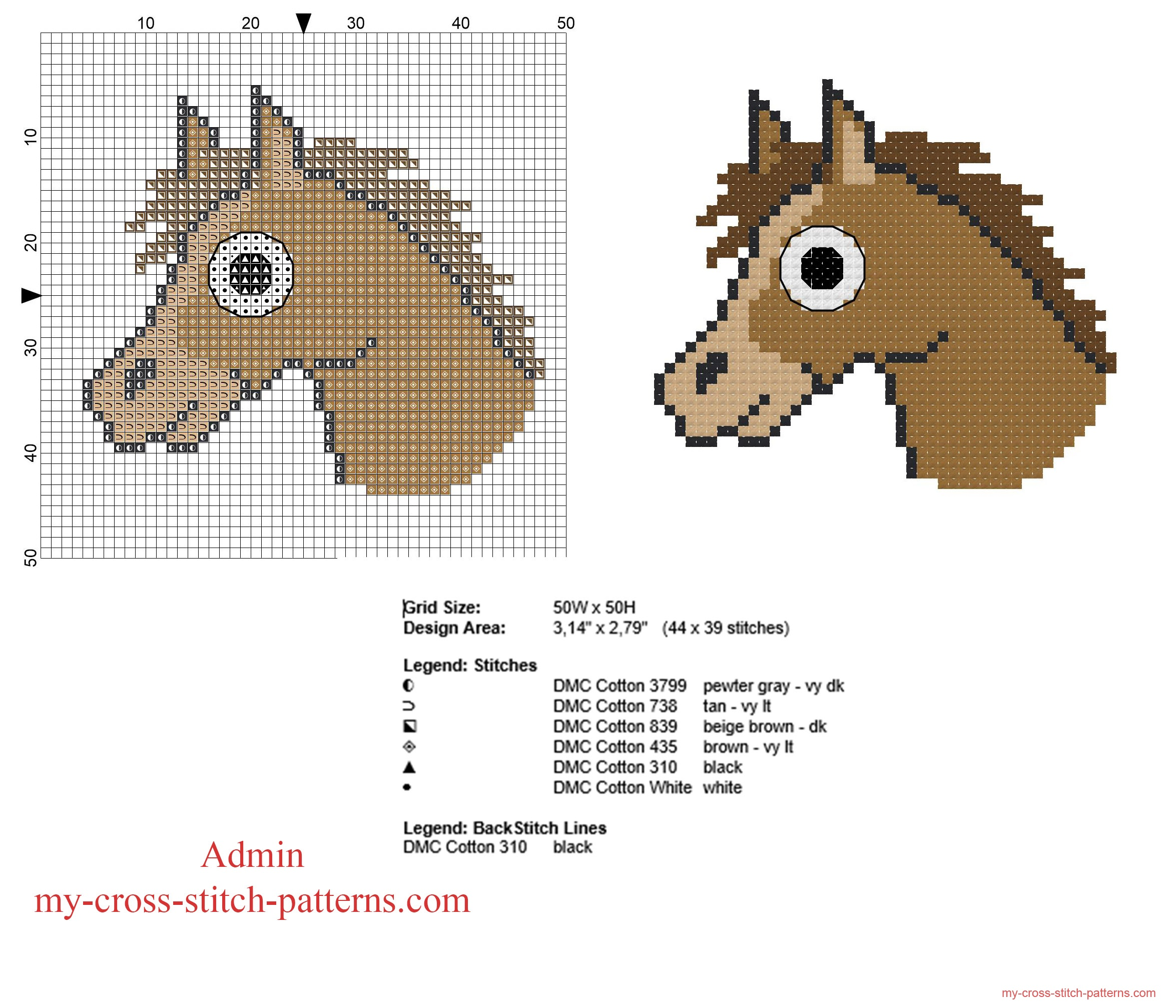 horse_head_free_and_small_cross_stitch_pattern