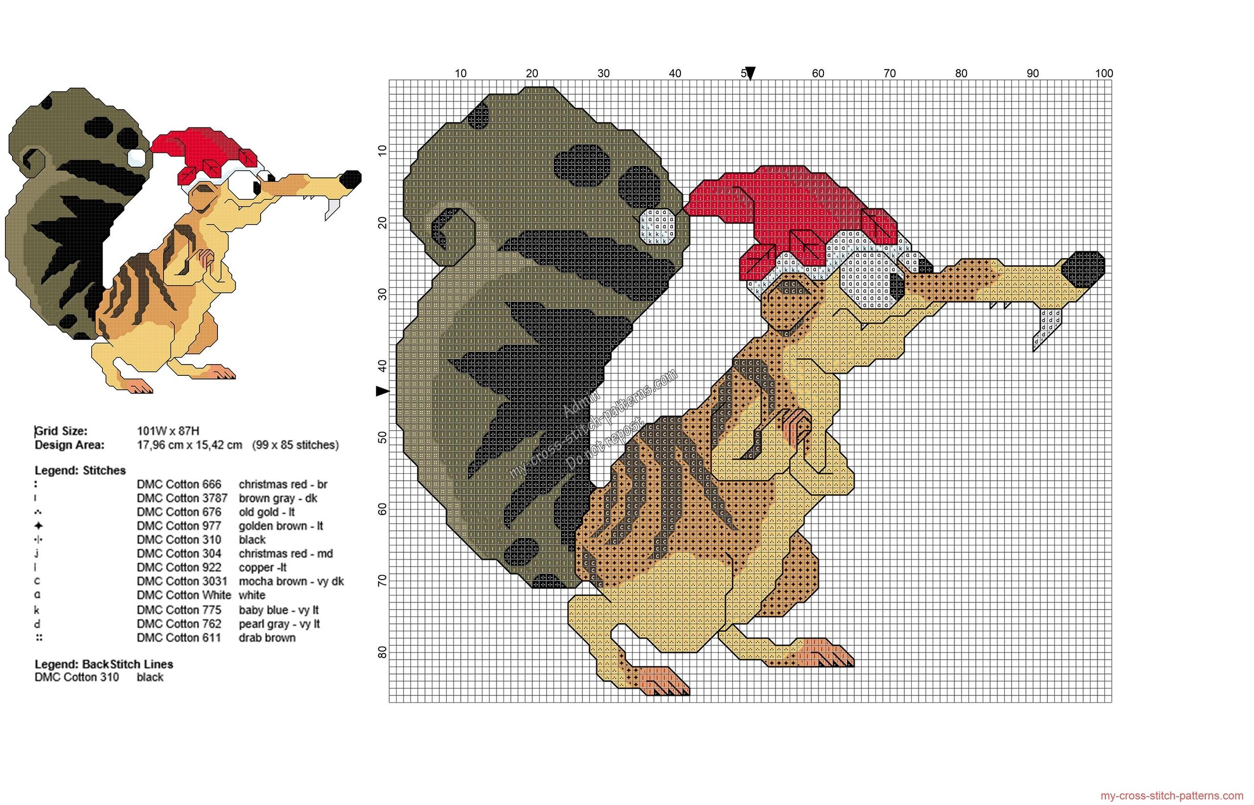 ice_age_christmas_scrat_free_cross_stitch_pattern_99x85